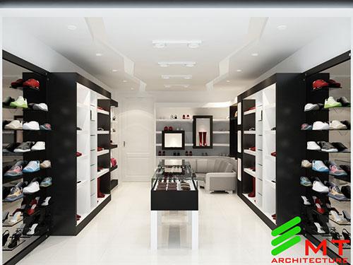 Thiết kế cửa hàng giầy tại hải phòng