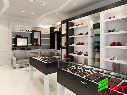 Thiết kế cửa hàng giầy