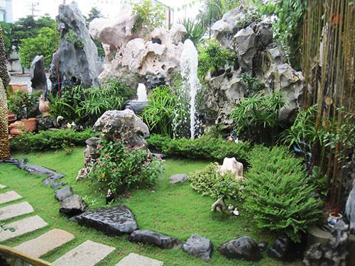Tiểu cảnh sân vườn Hải Phòng