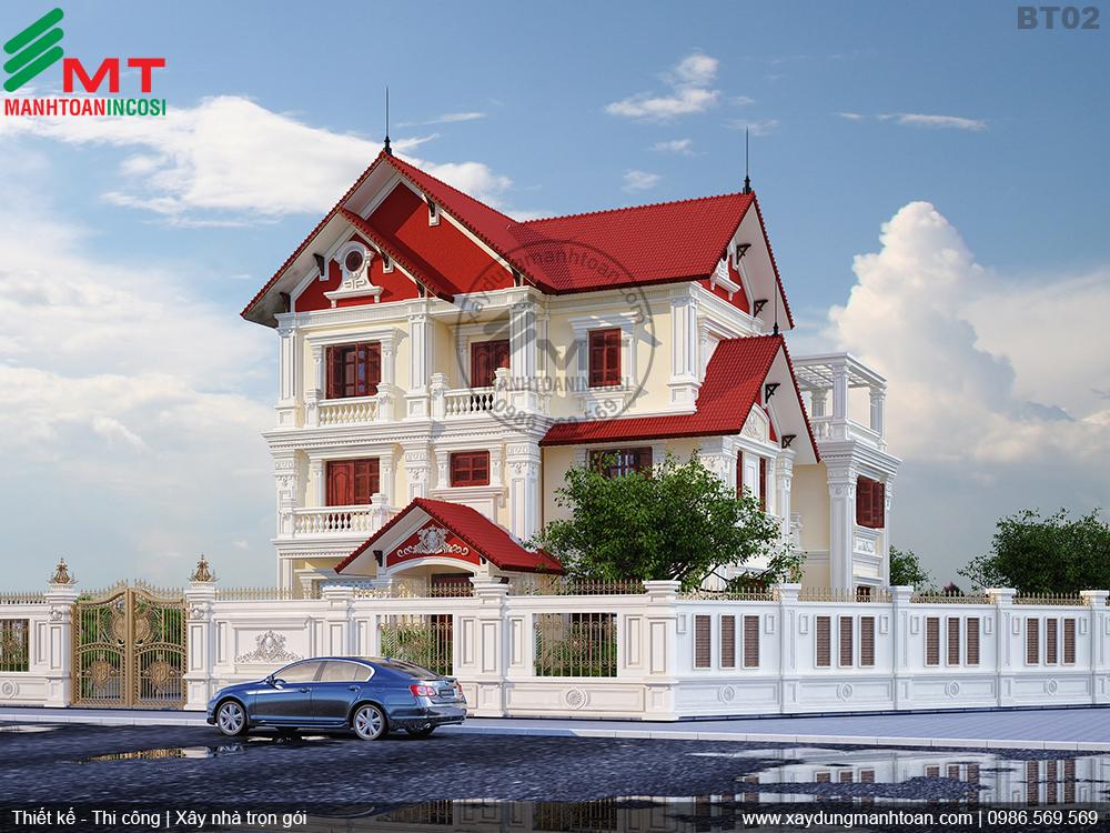 thiết kế ngoại thất nhà đẹp Hải Phòng