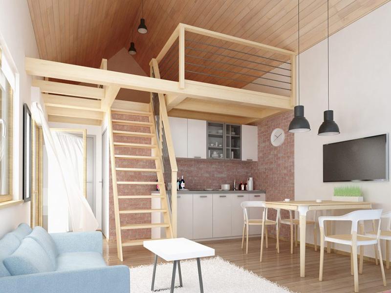 Gác xép gỗ, cách làm gác xép gỗ đẹp , không gian tận dụng với gác xép gỗ