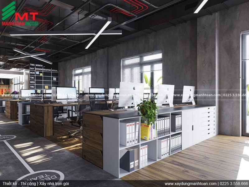 Thiết kế và thi công nội thất văn phòng Mạnh Toàn Plastic