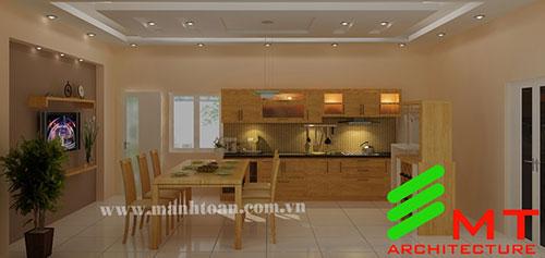 Thiết kế căn bếp nhà anh Dũng