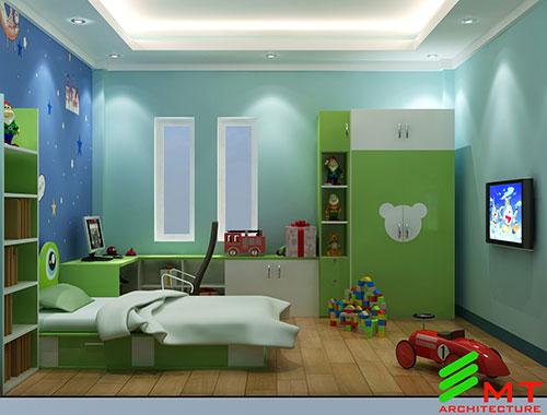 Thiết kế phòng ngủ nhà anh Huy Hải Phòng