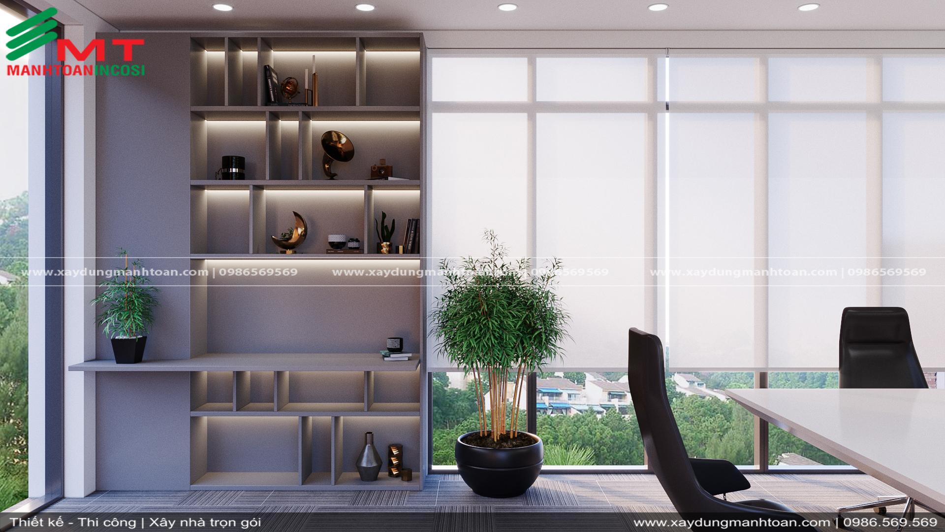 Thiết kế nội thất văn phòng Mạnh Toàn