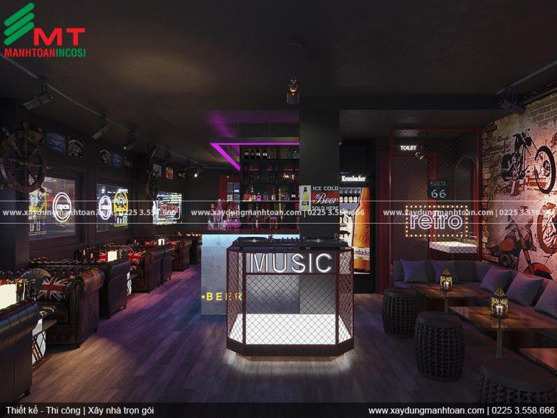 Thiết kế và thi công nội thất Retro Bar