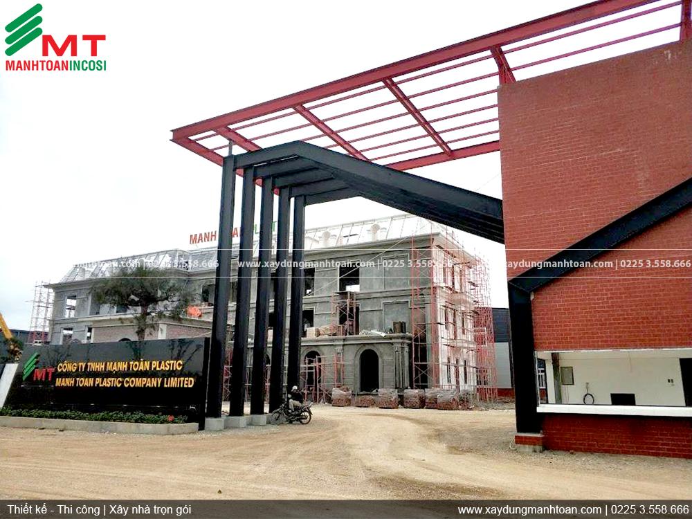 Hình ảnh xây dựng công trình Nhà máy sản xuất nhựa Mạnh Toàn Plastic