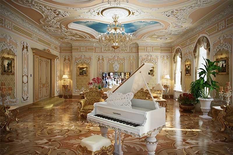 Ánh sáng không gian nội thất cổ điển Pháp