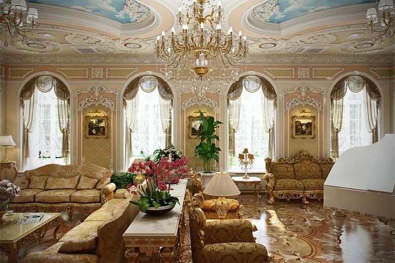 Không gian nội thất cổ điển Pháp