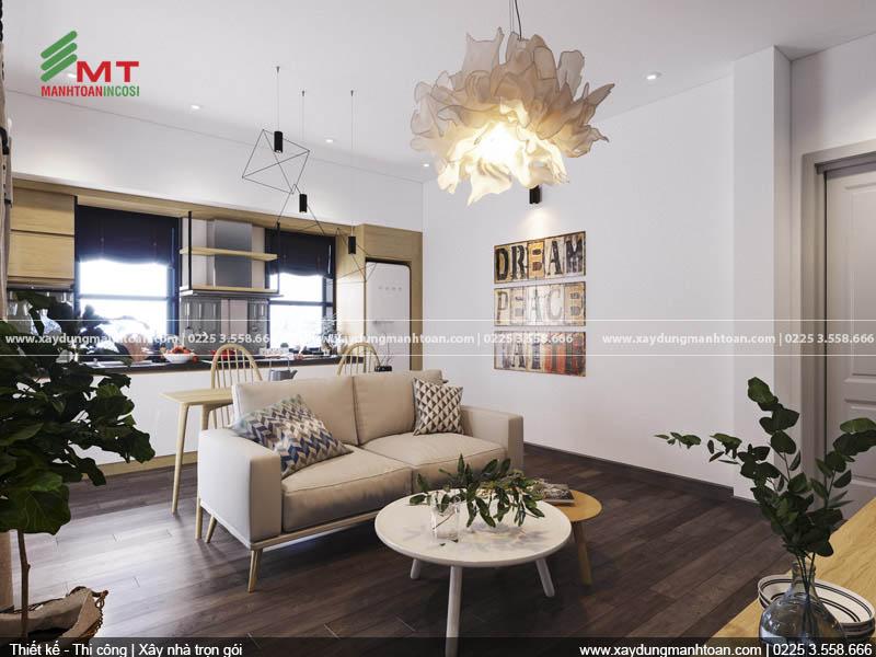 Mẫu thiết kế phòng khách căn hộ Paris