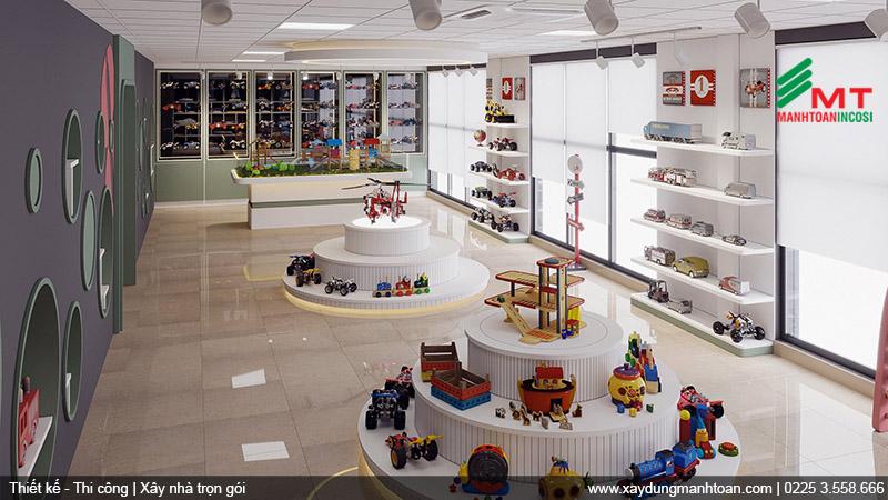 Thiết kế khu trưng bày đồ chơi thu hút trẻ em