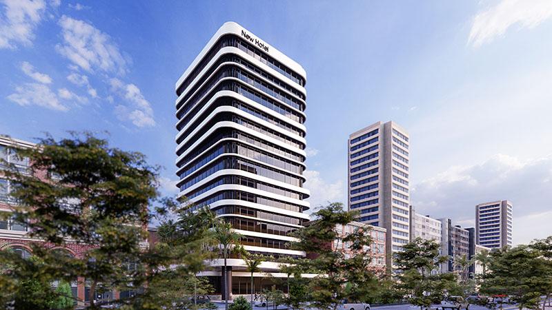 Mẫu thiết kế mặt tiền khách sạn New Hotel