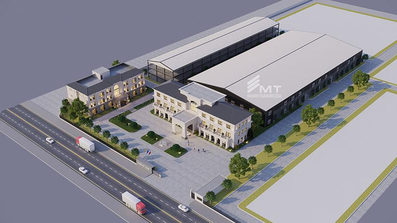 Thiết kế và thi công xây dựng nhà máy sản xuất mĩ phẩm