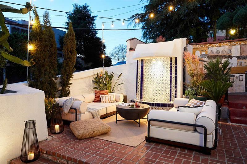 Mẫu thiết kế sân thượng đẹp: Phòng khách ngoài trời