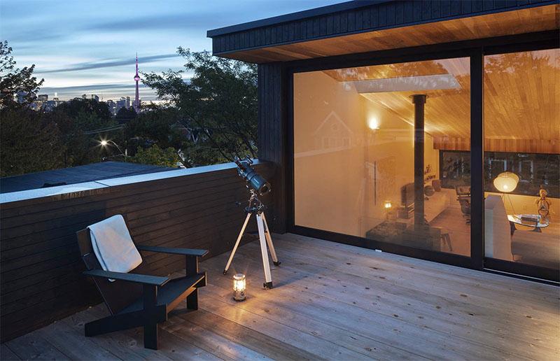 Mẫu thiết kế sân thượng đẹp: Chia thành nhiều không gian nhỏ