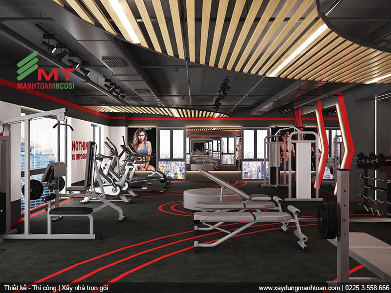 Thiết kế phòng Gym khách sạn Mon Hotel