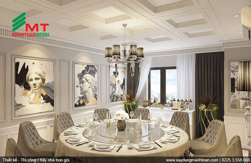 Thiết kế nội thất phòng ăn 1