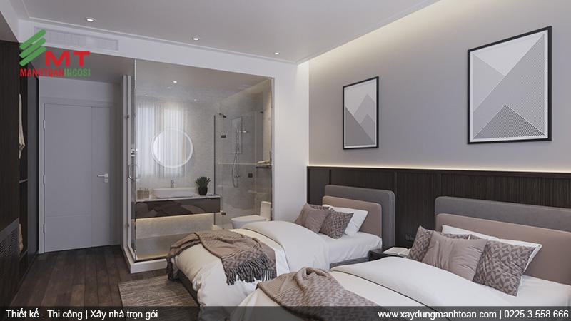 Thiết kế căn hộ mẫu khách sạn Mon Hotel
