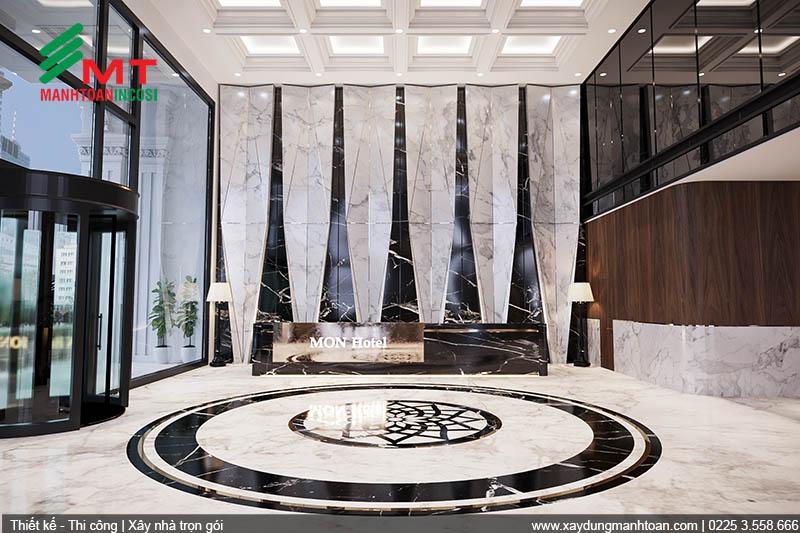 Thiết kế sảnh khách sạn Mon Hotel