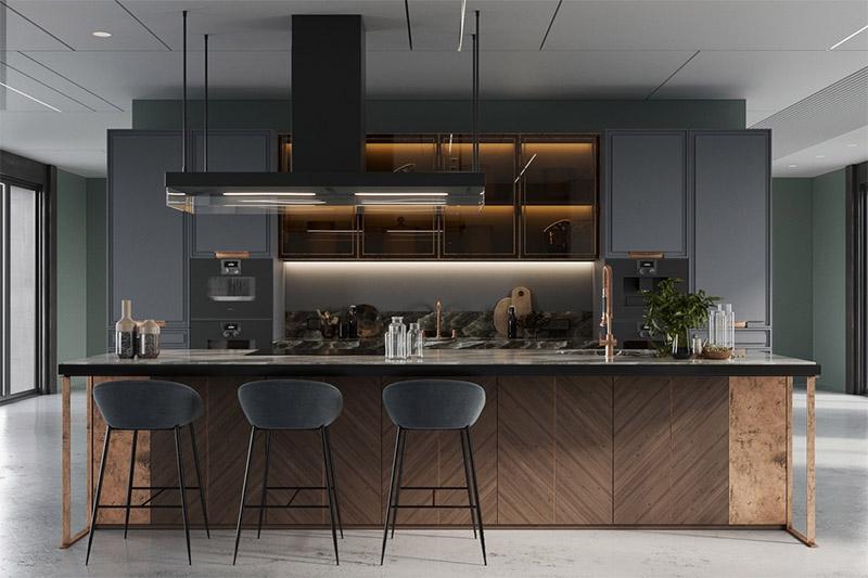 Sử dụng vật liệu gỗ trong thiết kế nội thất nhà bếp
