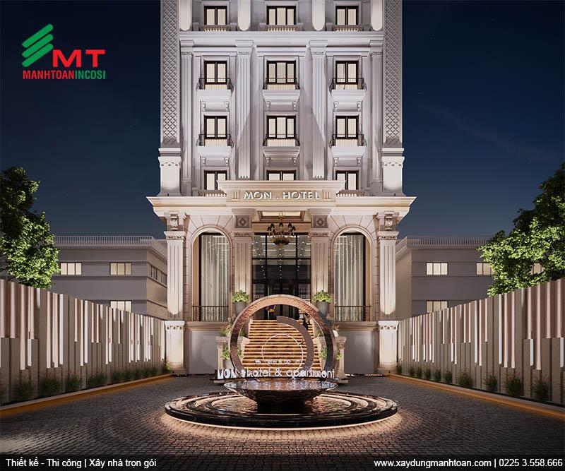 Thiết kế sân vườn khách sạn Mon Hotel