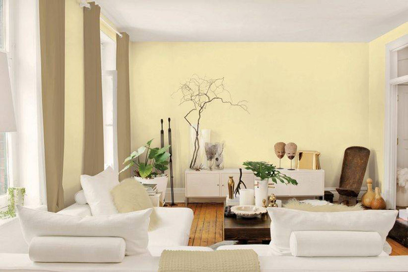 Phối màu sơn nhà: Vàng kem