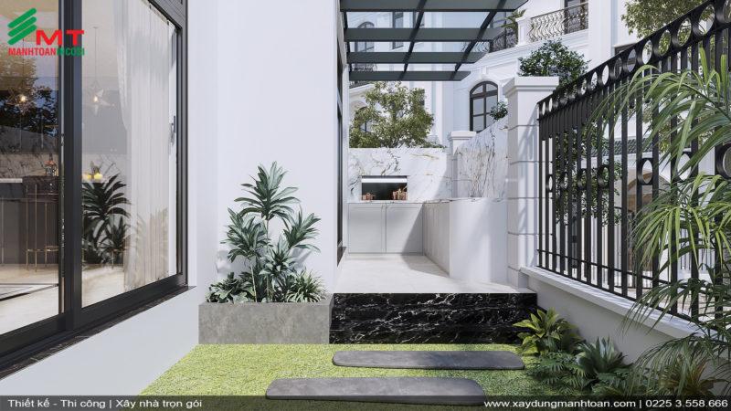 Thiết kế sân vườn nội thất tân cổ điển
