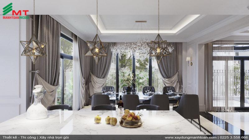 Thiết kế nội thất phòng bếpThiết kế phòng bếp nội thất tân cổ điển