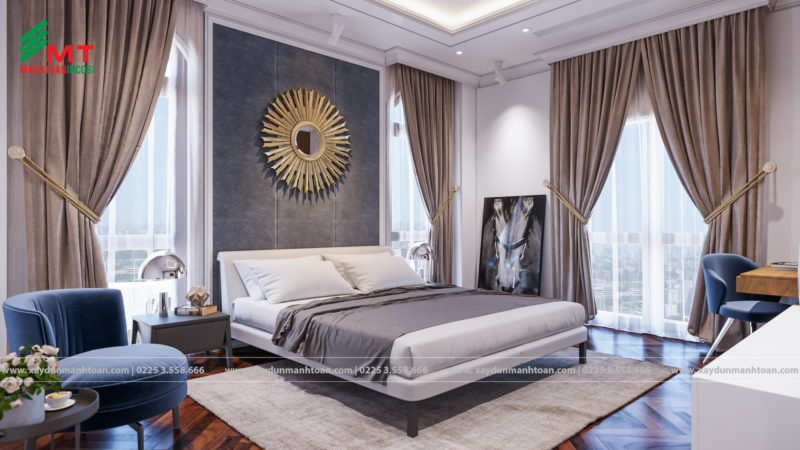 Phòng ngủ master sang trọng quý phái cho vợ chồng