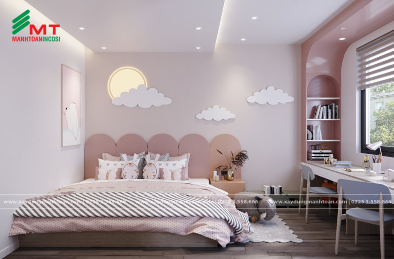 Phong ngủ dễ thương và sáng tạo cho bé
