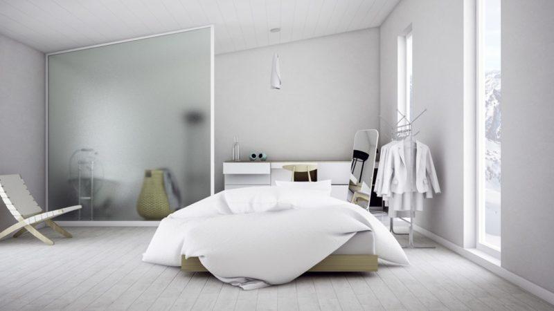 phòng ngủ phong cách Scandinavian trong trẻo và tinh khôi