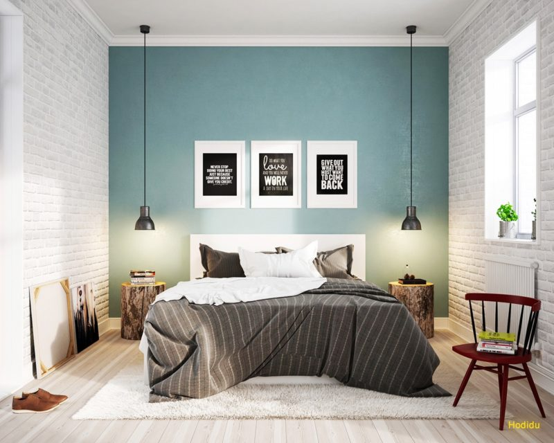 phòng ngủ phong cách scandinavian trẻ trung và tươi mới