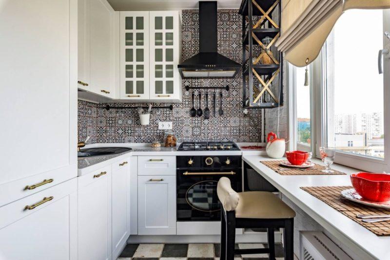 thiết kế phòng bếp với tủ bép chữ u mặt đá nhân tạo