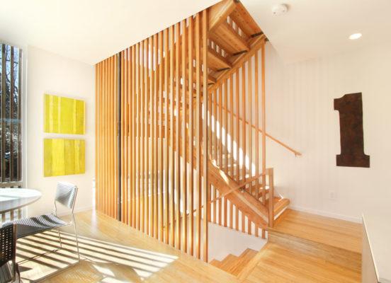 vách ngăn cầu thang cho ngôi nhà hiện đại